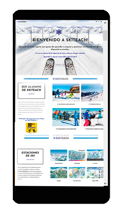 Web en movil Ski Teach - www.skiteach.es
