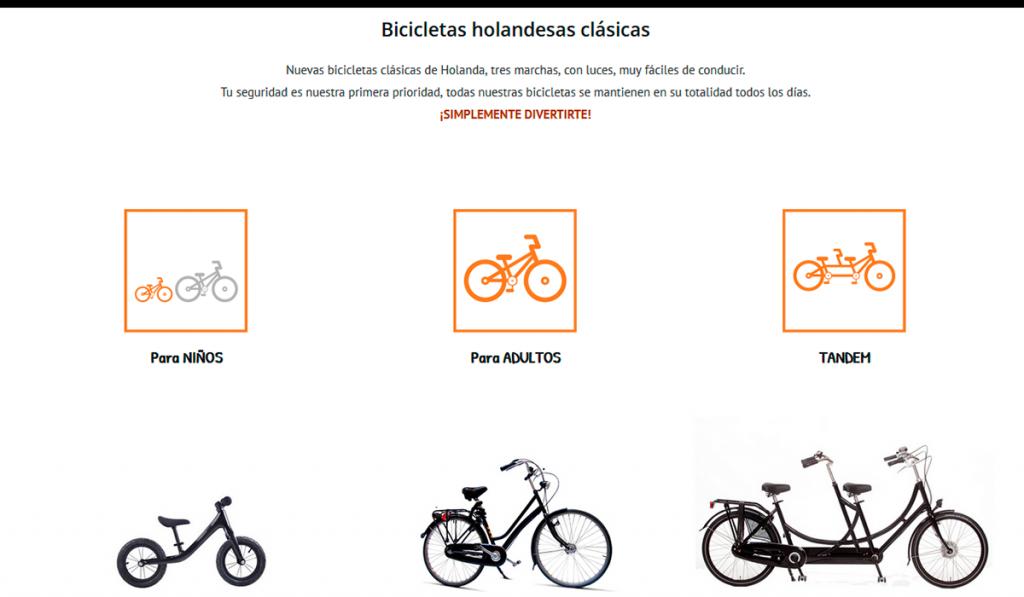 Diseño web KikeBcn - www.alquilarbicis.com