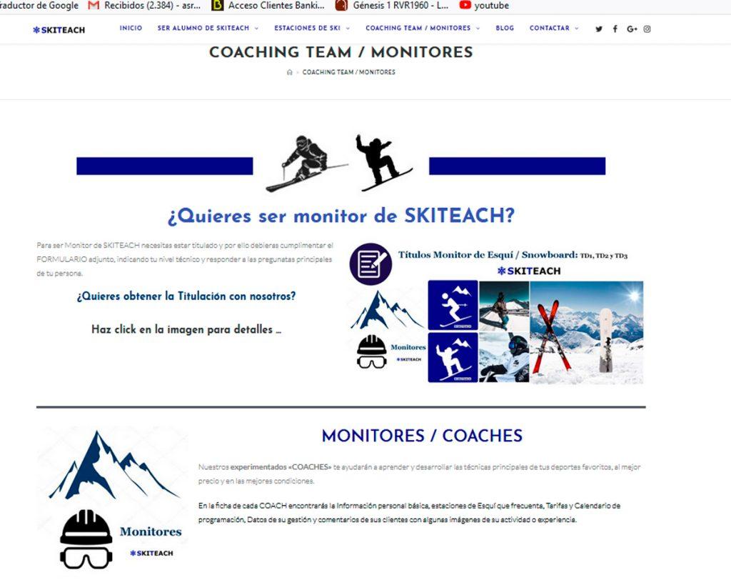 Web Ski Teach - www.skiteach.es