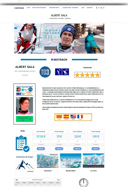 Web en movil Ski Teach - www.skiteach.es